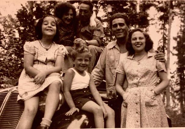 Edgar Krasa with Unreich Family