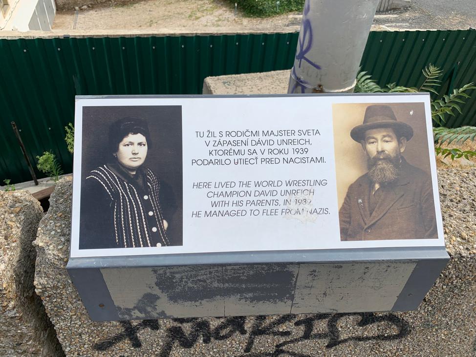 Unreich Memorial Plaque in Bratislava