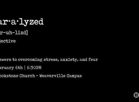 Paralyzed: Answers to overcoming stress, anxiety, and fear