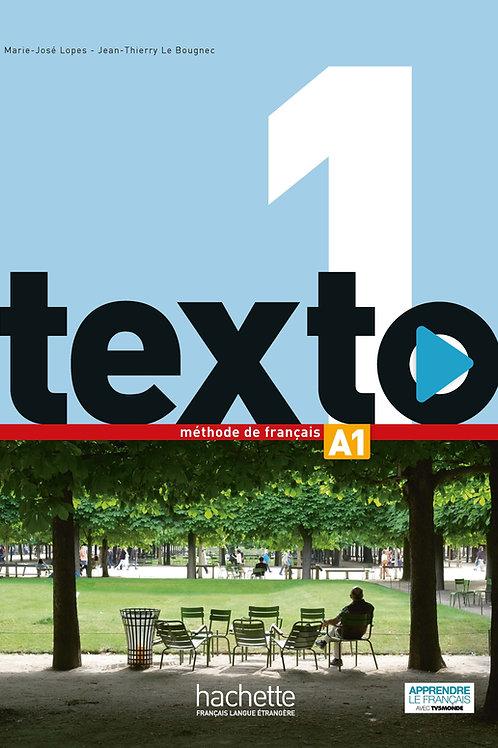 TEXTO-1/LIVRE DE L'ELEVE + DVD-ROM