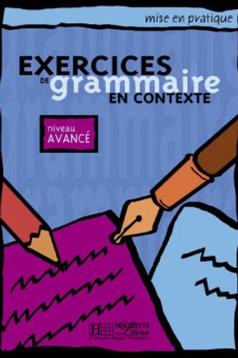EX. DE GRAMMAIRE CONTEXTE-AVANCE