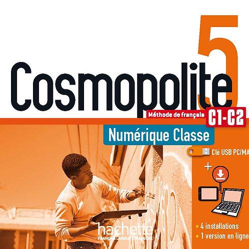 COSMOPOLITE-5/MANUEL NUMERIQUE ENSEIGNANT (CLE USB)