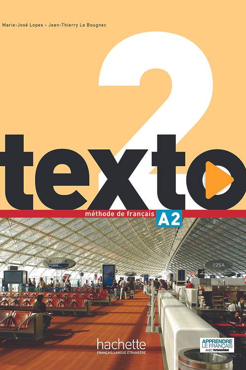 TEXTO-2/LIVRE DE L'ELEVE + DVD-ROM
