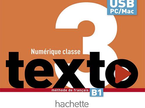 TEXTO-3/MANUEL NUMERIQUE ENSEIGNANT (CLE USB)