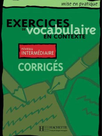 EX. DE VOCABULAIRE CONTEXTE-INT/CORRIGE