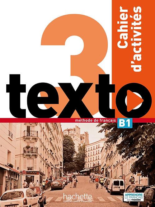 TEXTO-3/CAHIER D'ACTIVITES+CD AUDIO