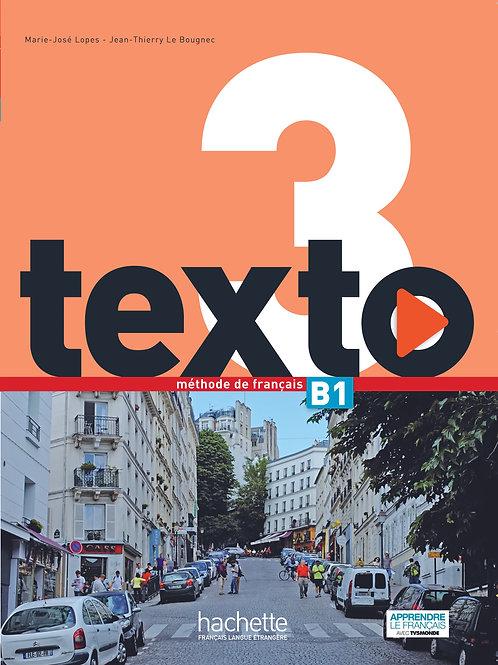 TEXTO-3/LIVRE DE L'ELEVE+DVD-ROM+MANUEL NUMERIQUE ELEVE
