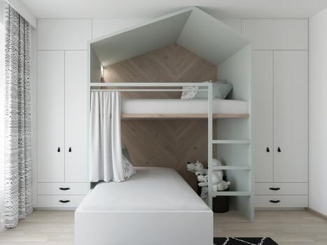 skříň a postel