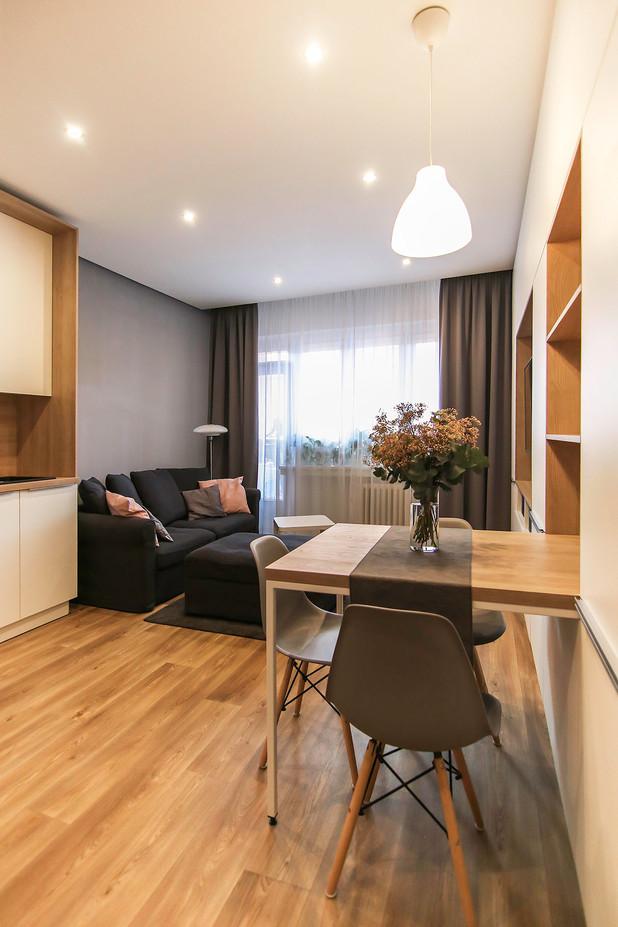 Rekonstrukce obývacího pokoje, Brno