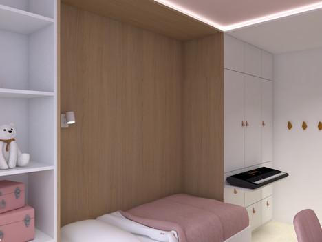 postel a skříň