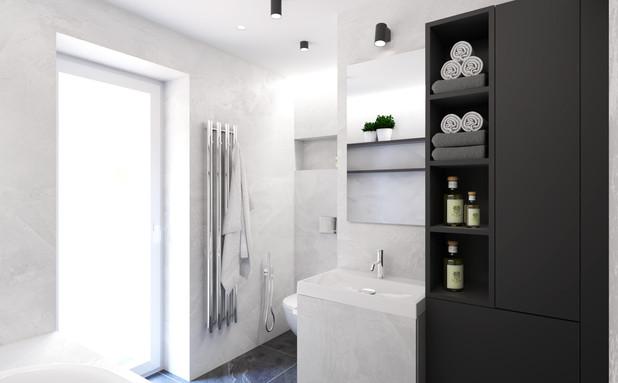 Návrh koupelny, RD Lanškroun