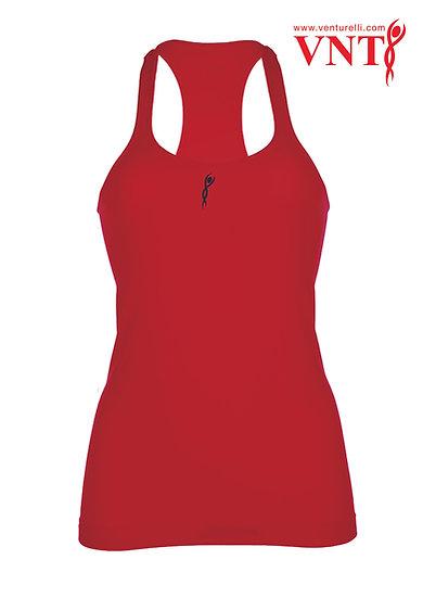 Venturelli Training Top - Red, Logo in Black