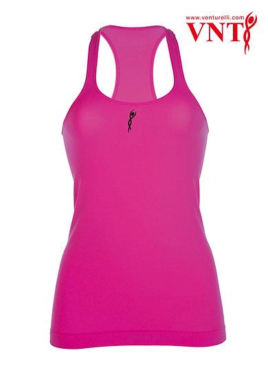 Venturelli Training Top - Neon Pink, Logo in Black