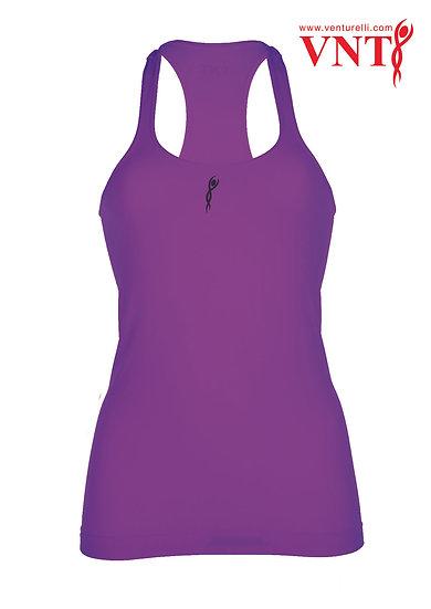 Venturelli Training Top - Bright Purple Logo in Black