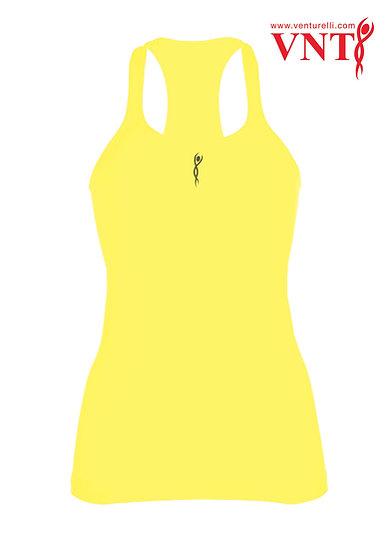 Venturelli Training Top - NEON Yellow Logo in Black