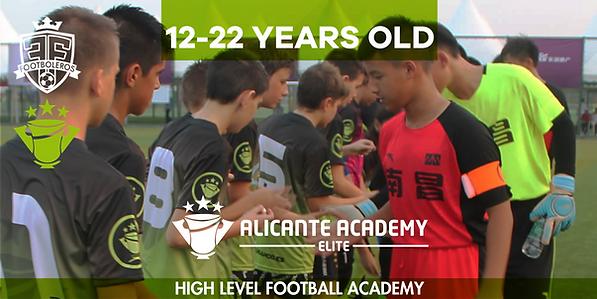 football academy in alicante spain high level elite soccer academy