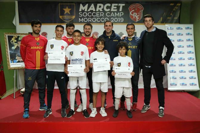 La photo des gagnants du Marcet Soccer camp, invité a l'academie à Barcelone pour des stages de haute performance