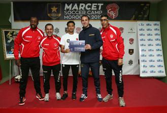 Le directeur sportive Benito Montalvo et le staff technique du Club Rahal a la remise des prix
