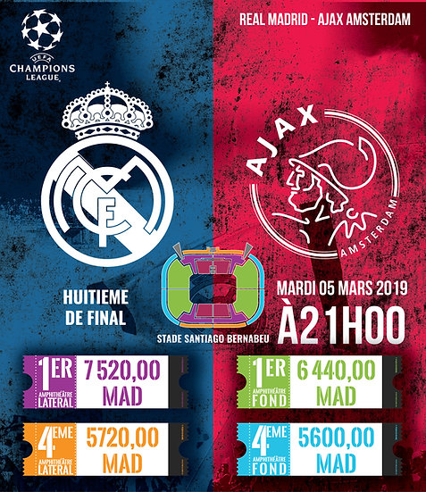 REAL MADRID - AJAX AMSTERDAM - CHAMPIONS LEAGUE - 05/03