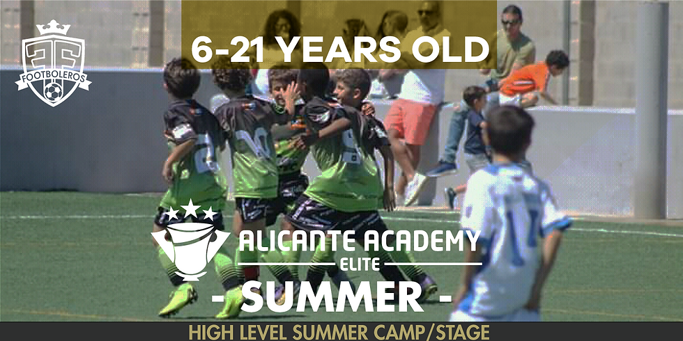 ALICANTE ACADEMY - Summer Camp - 6 - 21 Years old - 6 dates