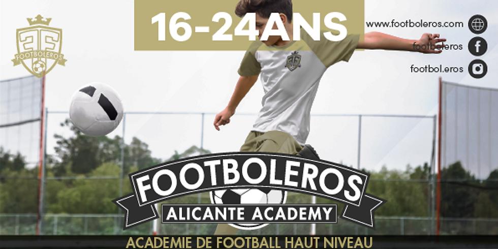 FOOTBOLEROS ALICANTE ACADEMY 16 - 24 YEARS OLD