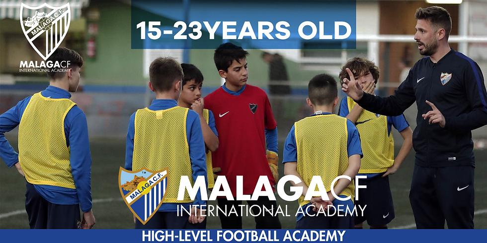 MALAGA CF International Academy 15 - 23 YEARS OLD