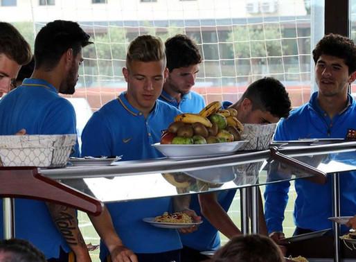 L'alimentation d'un footballeur professionnel
