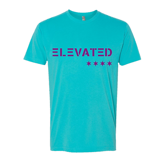 Elevated Unisex Tahiti Blue/Purple Logo