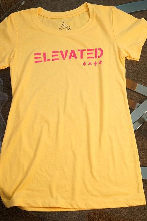 Elevated Women's Banana Cream/ElectricPink logo