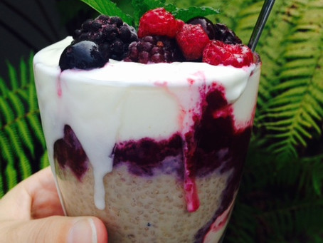 Chia Pudding with Mixed Berry Compote