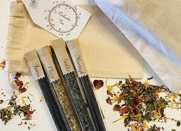 Outlander Tea Gift Packs (4 corked test tube teas with muslin bag)