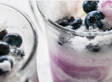School Holiday Treat - Blueberry Ice Cream Floats