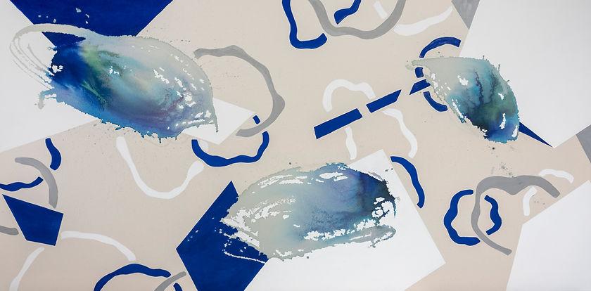 lagoon 2, 97 * 195 cm acrylic, ink, 2019