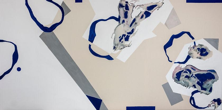 lagoon 1, 97 * 195 cm acrylic, ink, 2019