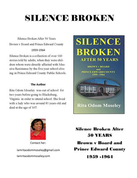 Silence Broken Flyer