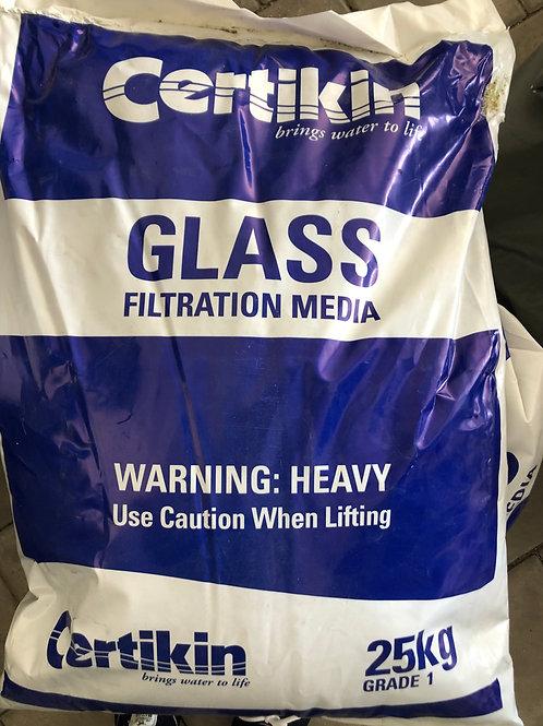 Glas-Filtermedium