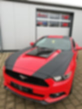 Ford Mustang Teilfolierung I Wrapatelier I Fahrzeugfolierung