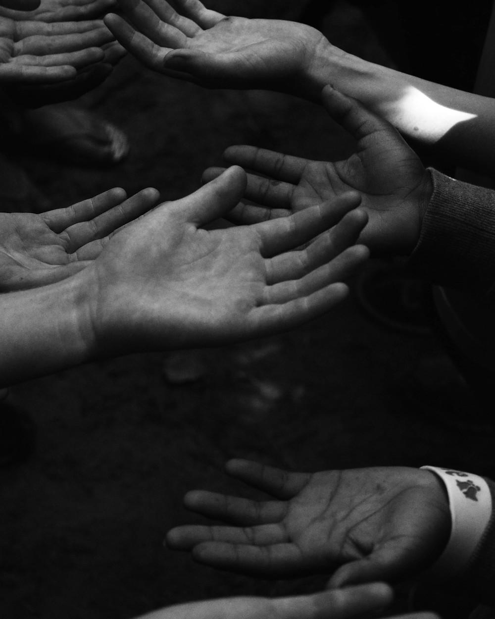 Open hands, empty palms