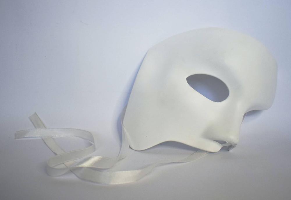White theatre mask