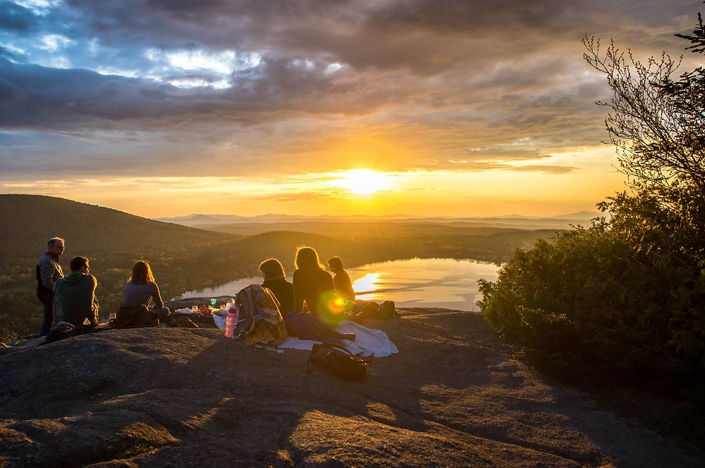 Picnic by sunset