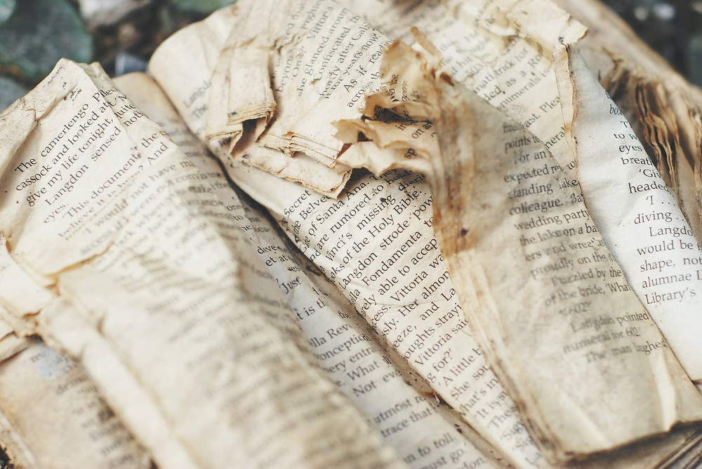 Tattered book