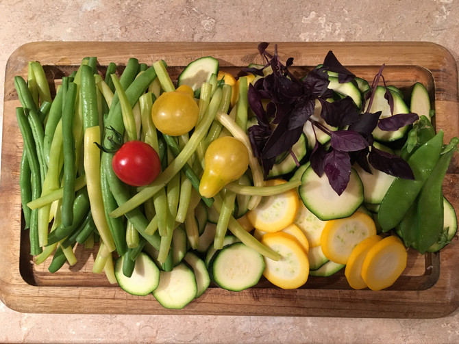 Every day brings new surprises fromthe garden! All grown without the use of harmful herbicides, pe
