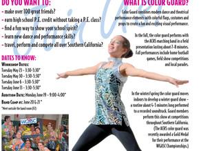 Color Guard workshop set for May 23 - June 13