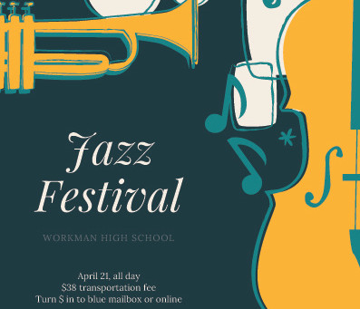 Workman Jazz festival slated for April 21