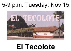 ElTecoloteFundraiser Nov. 15
