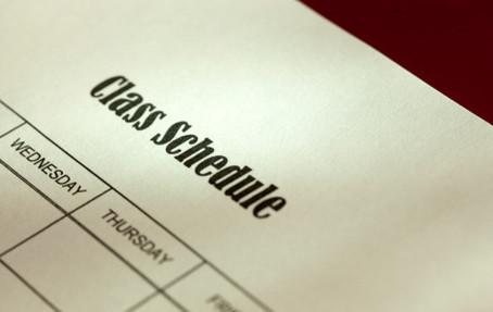 Practice schedules have been updated