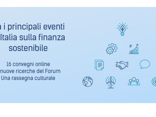 Settimana dell'Investimento Sostenibile 2020, gli eventi