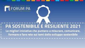 Forum PA, i vincitori del Premio PA sostenibile e resiliente 2021