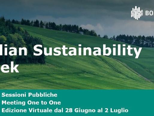 Italian Sustainability Week, dal 28/06 l'evento di Borsa Italiana sulla finanza sostenibile