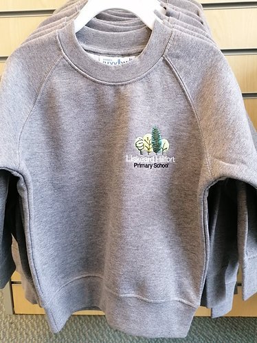 Hillfort Grey Sweater With Logo